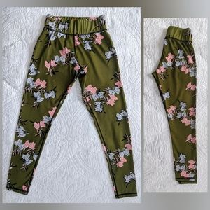 Mink Pink   floral leggings   small